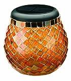 Smart Solar 3772WRM1 Glass  Mosaic Solar T-Light, Amber