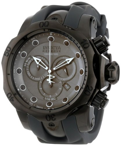Invicta Men's 11964 Venom Reserve Chronograph Silver Grey Dial Grey Polyurethane Watch