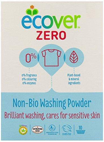 6 Pack of Ecover Zero ZERO Washing Powder 750 g