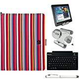 Vangoddy Dauphine Executive Portfolio Cover Case For Acer Iconia A A110 7-inch Tablet + Bluetooth Keyboard + Foldable Stand + Stylus Pen