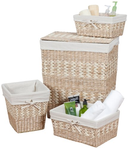CreativeWare Arcadia 4-Piece Hamper/Storage Set