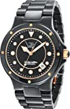 LTD Watch Unisex Midi Ceramic Range 3-Hand Date Watch LTD 031603 With Black Ceramic Case And Bracelet