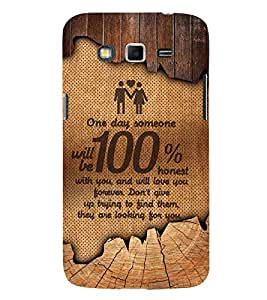 Honest Love 3D Hard Polycarbonate Designer Back Case Cover for Samsung Galaxy Grand 2 G7102 :: Samsung Galaxy Grand 2 G7106