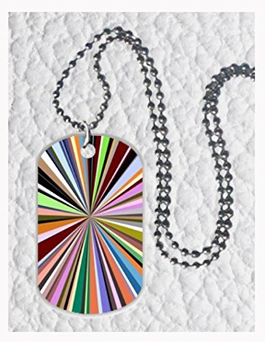 Colourful Tunnel Custom Best Quality Image Oval Dog Tag Necklace Pendant Tag Size 1.2X2 Inch And Key Chain