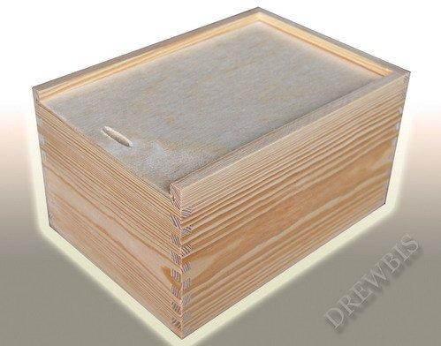 (PZ20)SLIDING WOODEN BOX - WOOD TRINKET STORAGE BOX JEWELLERY KEEPSAKE - DECOUPAGE BIG