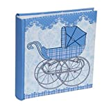 Gorgeous Blue Pram Photo Album - Holds 200 Photographs