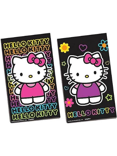 Hello Kitty 'Neon Tween' Black Paper Sketch Pads / Favors (12ct)