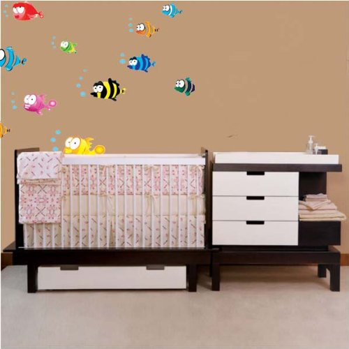 PeelCo Colorful Fish for Nursery Room Children's Wall Decal Sticker - 1