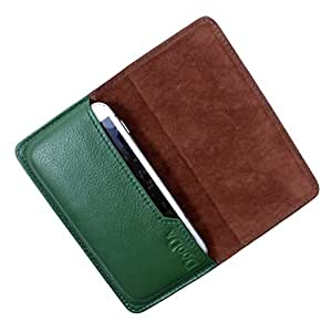 Dooda Genuine Leather Flip Pouch Case For Huawei Ascend P1 LTE (GREEN)