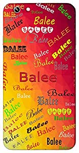 Balee (Cute Child) Name & Sign Printed All over customize & Personalized!! Protective back cover for your Smart Phone : Moto E-2 ( 2nd Gen )