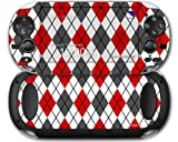 Sony PS Vita Skin Argyle Red and Gray by WraptorSkinz