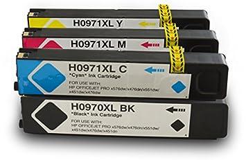 4 Druckerpatronen kompatibel für HP 970XL 971XL SET xvxvfsvcv