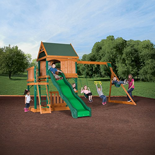 backyard discovery oakmont all cedar wood playset swing set toys games