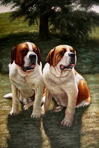 The high quality polyster Canvas of oil painting 'Two Dogs' ,size: 18x27 inch / 46x68 cm ,this High Definition Art Decorative Prints on Canvas is fit for Study gallery art and Home artwork and Gifts (Youth Vapor Keystone 2 compare prices)