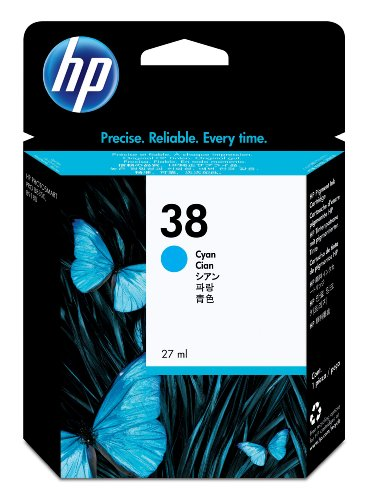 HP 38 - CARTOUCHE D'ENCRE D'ORIGINE - 1 X CYAN