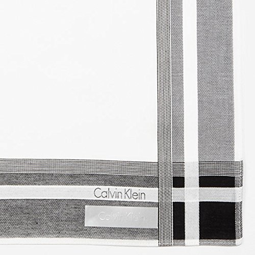 ck カルバン・クライン(ハンカチ・タオル)(ck Calvin Klein) 先染めハンカチ【ホワイト/**】