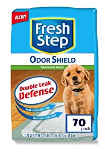 Fresh Step Odor Shield Absorbent Odor Control Training Pads for Puppies and Dogs, 70 Count