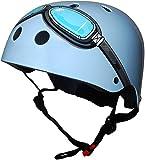 Kiddimoto Kids Helmet - Blue Goggle