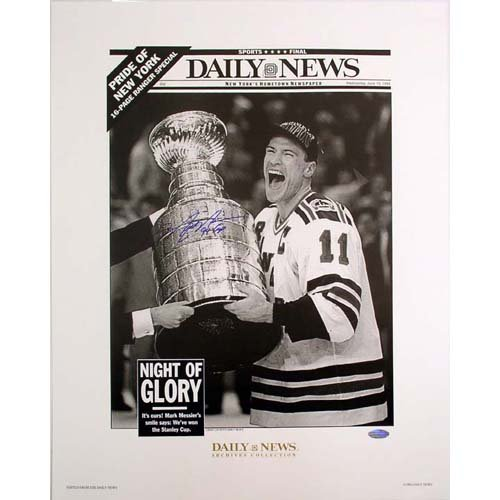 Steiner Sports Nhl New York Rangers Mark Messier Replica Daily News Cover 94 Cup Inscription