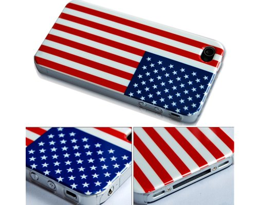 American Flag National Flag Hard Case Cover For Apple iPhone 4 AT&T America