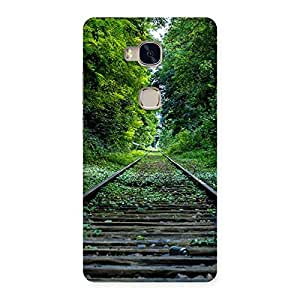 Cute Beautiful Track Green Back Case Cover for Huawei Honor 5X