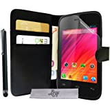 Etui Housse Luxe Portefeuille Wiko Ozzy + STYLET et 3 FILM OFFERT !!