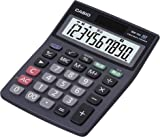 CASIO ミニジャストタイプ電卓 10桁 MW-10A-BK-N (エコ仕様 00キー/桁落しキー追加 表示保護パネル追加)