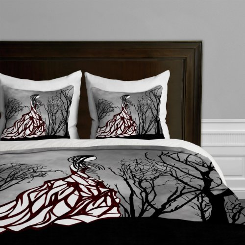 Deny Designs Amy Smith Lost In The Woods Duvet Cover, Queen back-932994