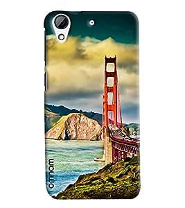 Omnam San Fransico Bridge Printed Designer Back Cover Case For HTC Desire 728