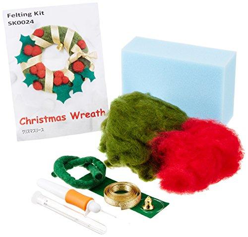 チューリップ クリスマスリース (緑) SK0024×フェルティングセット TW000