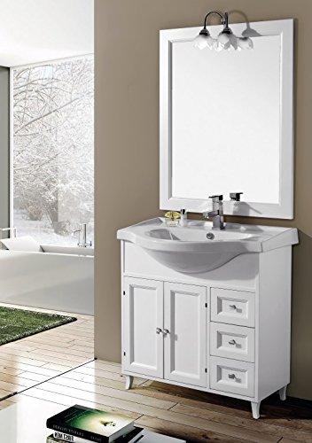 Lavastoviglie da incasso mobile da bagno con lavabo e specchio ilaria 85 cm arredamento da - Mobile bagno classico bianco ...