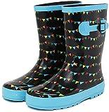 (セレブル) Celeble レインブーツ キッズ 女の子 男の子 ジュニア 長靴 雪 子供靴 フラッグブラック 15.0