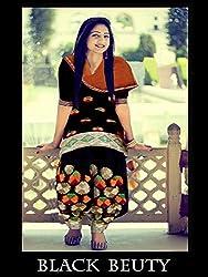 JJR Store Designer Black Cotton Embroidered Dress material