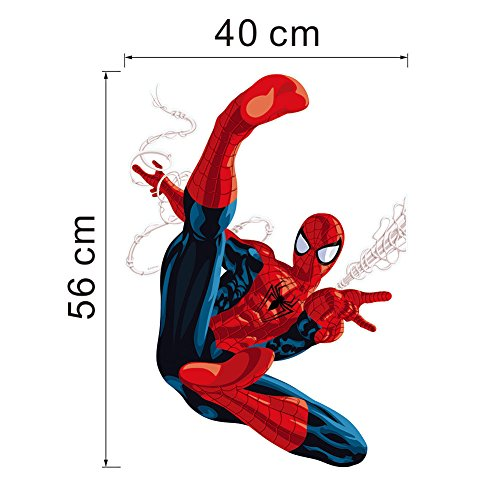 SPIDERMAN Classic Pose Wall Stickers Art Kids Nursery Boys Bedroom Decor Vinyl