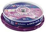 Verbatim 43666 8.5GB 8x DVD+R Double Layer Matt Silver 10 Pack Spindle