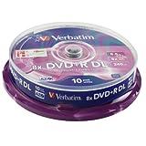 Verbatim 43666 8.5GB 8x DVD+R Double Layer Matt Silver 10 Pack Spindleby Verbatim
