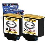 2 x Druckerpatronen Ersatz für Philips PFA 441 XL Original Alaskaprint Tinte Faxjet 525 black, je 18ml ( Philips441xl , 441xl), schwarz, bk Tollserie