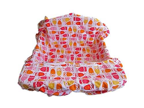 Shopping Cart & High Chair Cover Cute Owls front-909302