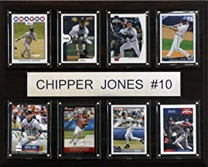 MLB Chipper Jones Atlanta Braves 8 Card Plaque by C&I Collectables