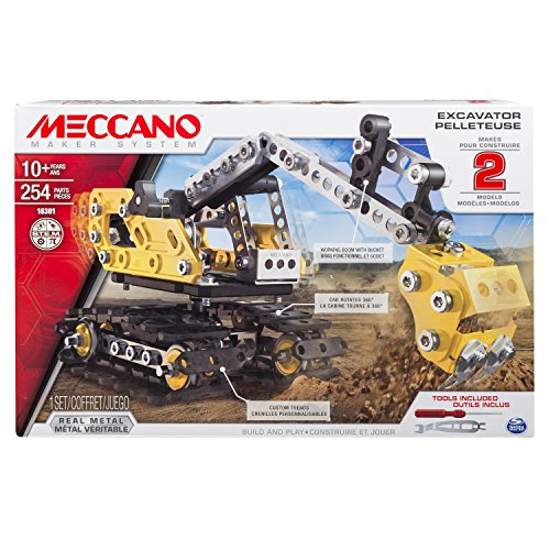 Meccano, 2-in-1 Model Set, Excavator and Bulldozer (Bulldozer Model compare prices)