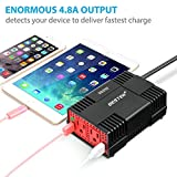 BESTEK 300W Power Inverter DC 12V to 110V AC Car Adapter with 4.8A Dual USB Charging Port