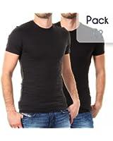Levis - T Shirt Pack Col Rond*2 Noir