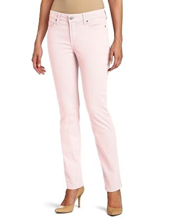 NYDJ Women's Petite Sheri Skinny Twill Pastels Jean, Barely Pink, 0