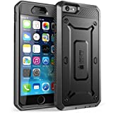 iPhone 6 Case, SUPCASE [Heavy Duty Belt Clip Holster] Apple iPhone 6 Case 4.7 inch [Unicorn Beetle PRO Series] Full-body Rugged Hybrid Protective Cover with Built-in Screen Protector (Black/Black), Dual Layer Design + Impact Resistant Bumper