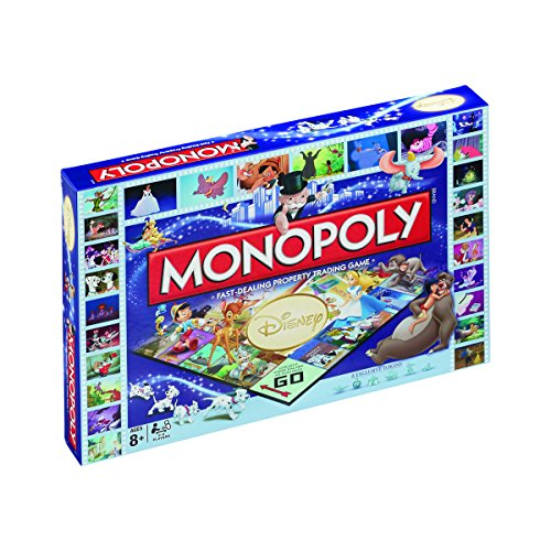 Winning Moves 024372 - Gioco da Tavolo Monopoly Disney Classic, Versione Inglese