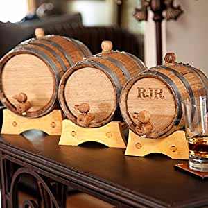 Whiskey barrel with steel bands party favors bar tools amp glasses