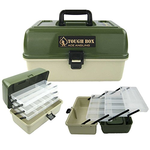 Ace Angling™ 3 Tray Cantilever <strong>Fishing< strong> Tackle Tough <strong>Box< strong>