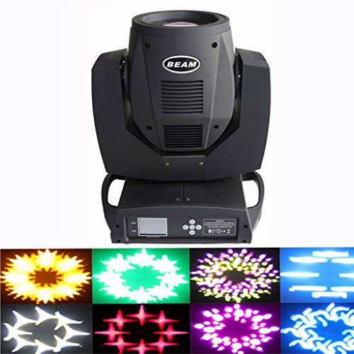 Yiscortm Stage Lighting Beam Moving Head Spot Light 230W Osram 7R Bulb Touch Screen Dmx512 For Xmas Christmas Birthday Home Garden Party Wedding Dj Club Disco Effect - Black