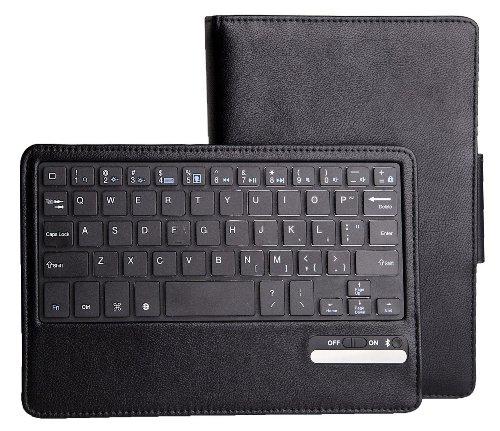 Ivso Samsung Galaxy Note 8.0 Bluetooth Keyboard Portfolio Case - Detachable Bluetooth Keyboard Stand Case / Cover For Samsung Galaxy Note 8.0 Tablet (Black)