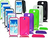 NEW S LINE GEL SILICONE PHONE CASE COVER FOR HTC DESIRE 310 + SCREEN GUARD